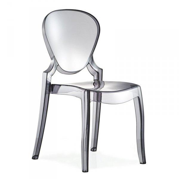 Przydmione krzesło transparentne Queen 650 Pedrali