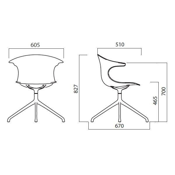 Krzesło obrotowe drewniane Loop 3d 4 star Infiniti