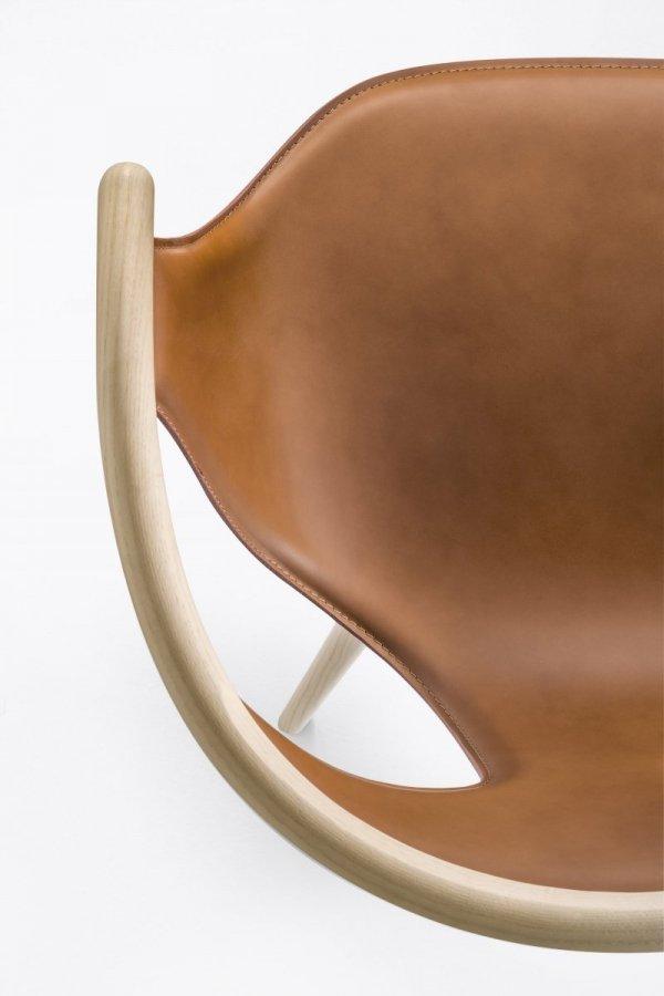 FOX 3727 eleganckie skórzane krzesło Pedrali