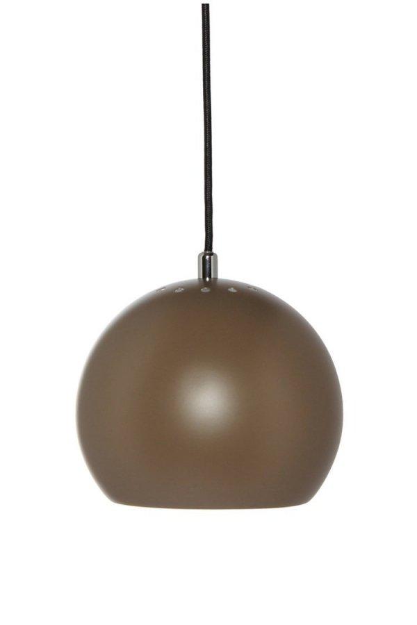 Lampa wisząca BALL Ø18cm Frandsen brązowa mat