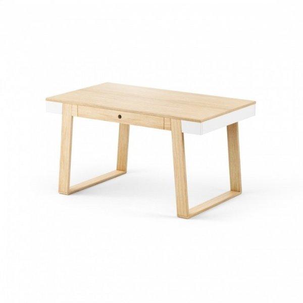 Stół Magh Absynth 75x80x140/220 cm rozkładany w kolorze naturalny dąb