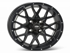 HURRICANE 15x7 4/137 5+2 1528645536B Matte Black