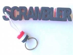 Breloczek, brelok do kluczy piankowy z napisem Scrambler