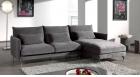 Narożna sofa z otomaną do salonu Eusebio