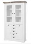 Wąska witryna z kilkoma szufladami, cokół drewno dębowe Isacco