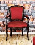 Fotel z podłokietnikami w stylu rococo Altea