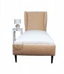 Beżowe, urocze łóżko w stylu francuskim 120x200 cm-Frou Frou