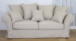 Sofa do spania beżowy pokrowiec Federica 210 cm/FS