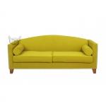 Musztardowa kanapa do salonu Londa 205 cm