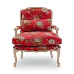Czerwony fotel włoski Vesta