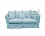 Miętowa sofa ze ściąganym pokrowcem Vivienne 150 cm