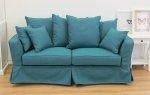 Turkusowa sofa nierozkładana Vivienne 190 cm
