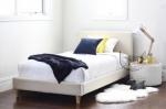 Klasyczne proste łóżko w pełni tapicerowane Laziale