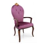 Stylowe lekkie krzesło z inkrustacjami Aster