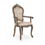 Stylizowane krzesło z podłokietnikami Cresta
