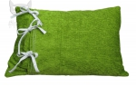 Oryginalna zielona poduszeczka z kokardami od producenta Eva