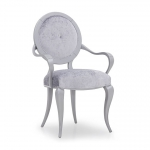Designerskie gięte krzesło z podłokietnikami Seneca