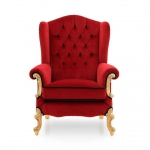 Purpurowy fotel królewski Eneide