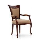Wysokie siedzisko stylowe krzesło podłokietniki Jersey