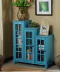 Niebieska trzy poziomowa witryna w stylu rustykalnym NO.32