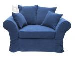 Komfortowa kanapa ze zdejmowanym pokrowcem Federica 150 cm