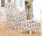Fotel fartuchowiec z wysokim oparciem Marie