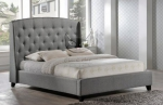Łóżko z pikowanym wezgłowiem w stylu glamour Arrigo