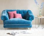 Pikowana sofa w stylu glamour Lovely