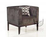 Nowoczesny fotel w geometryczne wzory Cube