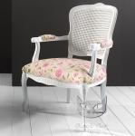 Lekki biały fotel Luisa