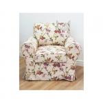 Fotel prowansalski w kwiaty Marie