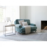 Niebieska sofa jednoosobowa Blu