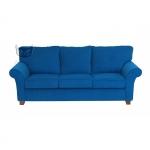 Granatowa sofa w tkaninie plamoodpornej Olena 220