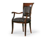 W stylu miejskim krzesło z podlokietnikami Ricciolo