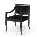 Czarny fotel w stylu glamour Calliope