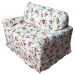 Wąska sofa do salonu jednoosobowe spanie Flower 110 cm/FS