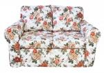 Sofa w herbaciane róże - MARIE 100x200 cm FS
