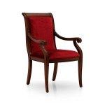Krzesło z podłokietnikami stylizowane Torino