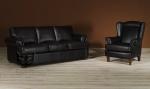 Sofa 3-osobowa SALERNO +Babciny Fotel w skórze naturalnej