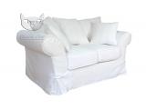 Biała sofa w stylu skandynawskim Federica 170 cm