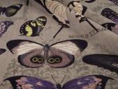 Materiał w duże motyle Jungle Velvet 02