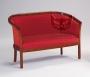 Sofa dwuosobowa w stylu lat pięćdziesiątych Leda