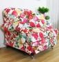Fotel stylizowany obicie ogromne różowe kwiaty Isabella