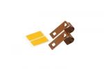 Metalowy wieszak do mini rolet - jasny brąz