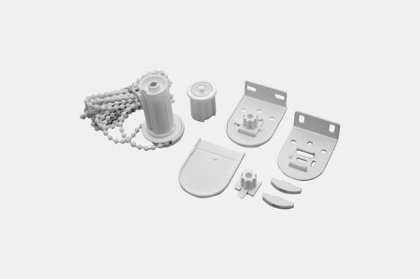 Metalowe uchwyty i mechanizm koralikowy do rolet klasycznych fi25mm