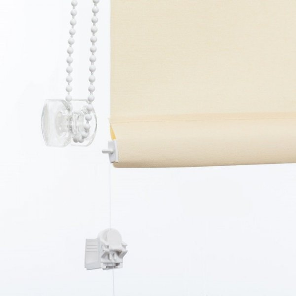 Mini roleta z żyłką - Piaskowy (Carina)