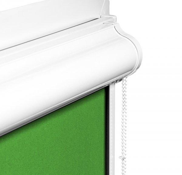 Kasetę i prowadnice rolety podgumowane w kasecie PLUS wykonano z trwałego aluminium