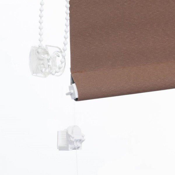 Mini roleta z żyłką Thermo - Kawowy (Silver)