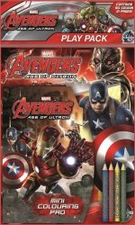 Zestaw 2 kolorowanek z kredkami Avengers II