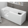 Badewanne für barrierefreies Bad mit Tür links und integrierter abnehmbarer Sitzbank für Senioren VOVO 140 cm